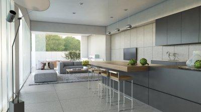 amerikai konyhás nappali - konyha / étkező ötlet