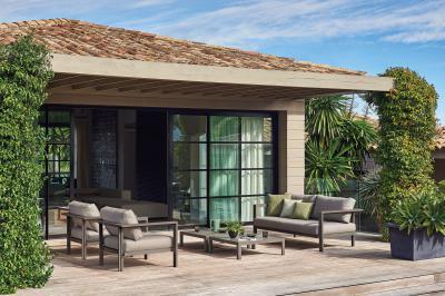 Alabama kerti kanapé és fotelek - erkély / terasz ötlet, modern stílusban
