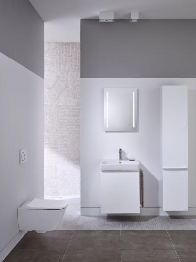 Smyle - Finom formák, maximális funkció - fürdő / WC ötlet, minimál stílusban