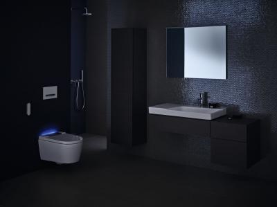 Aquaclen rendszerrel felszerelt wc - fürdő / WC ötlet, modern stílusban