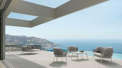 Kárpitos kerti bútor - erkély / terasz ötlet, modern stílusban