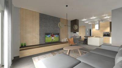 Modern-zen ház nappali látványterve - nappali ötlet, modern stílusban