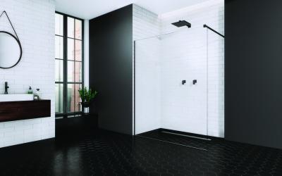 Falra szerelhető zuhanyfal - fürdő / WC ötlet, minimál stílusban
