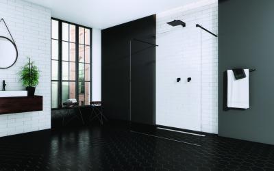 Üvegfallal határolt zuhanyfülke - fürdő / WC ötlet