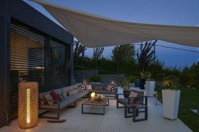 Nappali jellegű kertibútorok - erkély / terasz ötlet, modern stílusban