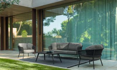 Különleges kerti bútorok kötélből - erkély / terasz ötlet