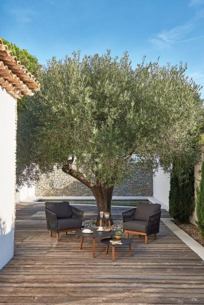 Elegáns kötél bútor a teraszon - erkély / terasz ötlet