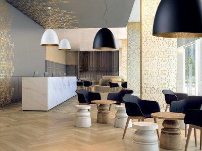 Modern irodai, nappali világítás - nappali ötlet, modern stílusban