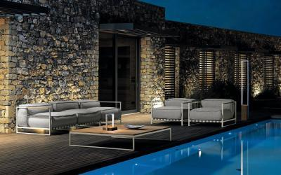 Kényelmes ülőgarnitúra kertbe, teraszra - kert / udvar ötlet, modern stílusban