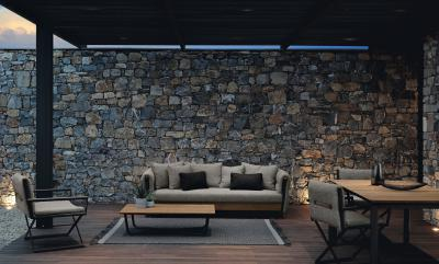 Kényelmes kerti garnitúra - erkély / terasz ötlet, modern stílusban