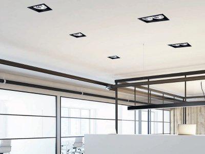 A süllyesztett lámpák ergonomikusabbak - dolgozószoba ötlet