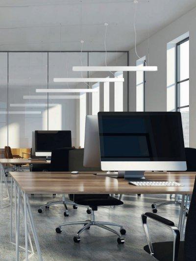 Modern, minimál stílusú függeszték - dolgozószoba ötlet