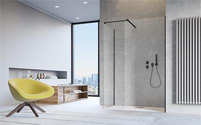 Minimalista zuhanykabin - fürdő / WC ötlet