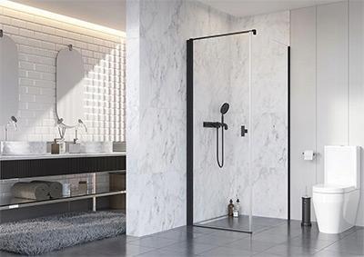 Szögletes zuhanykabin - fürdő / WC ötlet