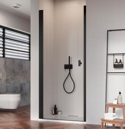 Fekete zuhanyajtó - fürdő / WC ötlet