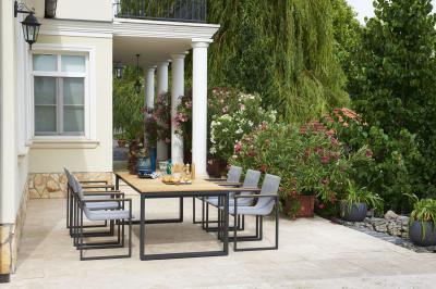 Elegáns étkező a teraszon - erkély / terasz ötlet, modern stílusban