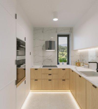 Modern konyha márvánnyal és tölggyel. - konyha / étkező ötlet