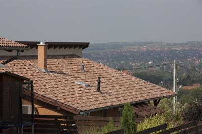 Beton tetőcserép - tető ötlet, modern stílusban