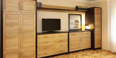 Variálható szekrények tömörfából - háló ötlet, modern stílusban