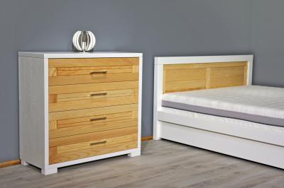 Tömörfa hálószobabútor - háló ötlet, modern stílusban