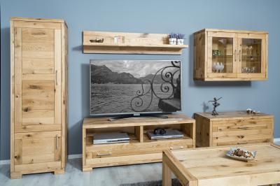 Tömörfa bútorok a nappaliban - nappali ötlet, modern stílusban
