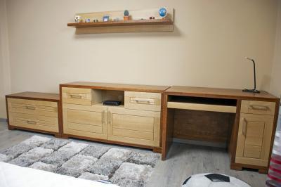Tömörfa bútorok a gyerekszobában - gyerekszoba ötlet, modern stílusban