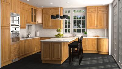 Tömörfa konyhabútor világos színben - konyha / étkező ötlet, klasszikus stílusban