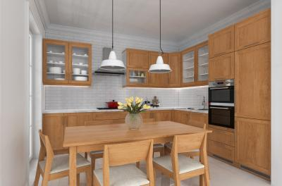 Modern konyha tömörfa bútorokkal - konyha / étkező ötlet, modern stílusban
