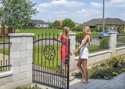 Kerítéskő - kerítés ötlet, klasszikus stílusban