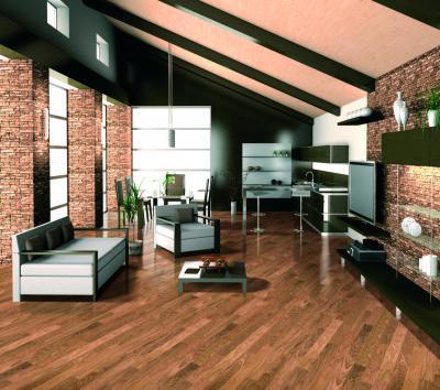 Tölgy készparketta - nappali ötlet, modern stílusban