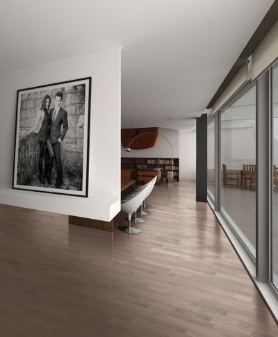 Készparketta a tárgyalóban - dolgozószoba ötlet, modern stílusban