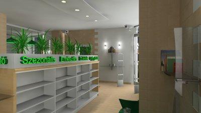 Patika - betegfogadó tér - előszoba ötlet, modern stílusban
