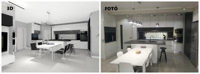 White minimal kitchen - konyha / étkező ötlet, minimál stílusban