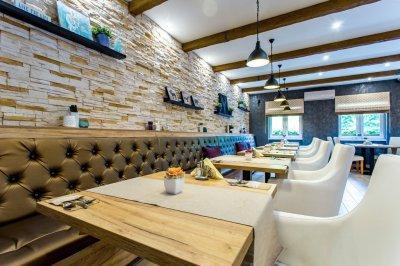 Étterem box - konyha / étkező ötlet, modern stílusban