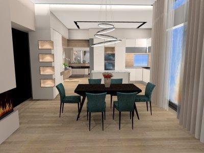 3d látványterv konyha egyedi bútortervek - konyha / étkező ötlet, minimál stílusban