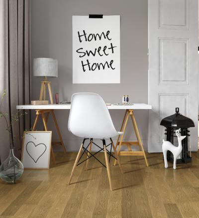 Tölgy készparketta a dolgozószobában - dolgozószoba ötlet, modern stílusban