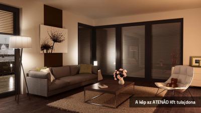 Modern aluredőny - nappali ötlet, modern stílusban