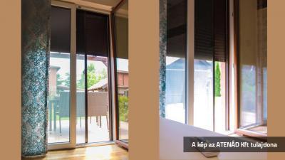 Aluredőny a teraszajtón - nappali ötlet, klasszikus stílusban
