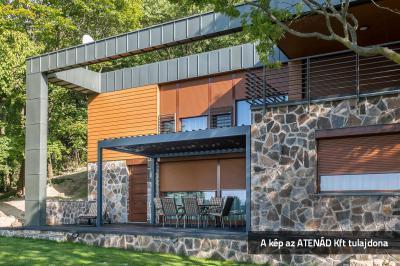 Aluredőny a modern lakóházon - homlokzat ötlet, modern stílusban