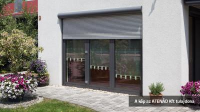 Aluredőny a teraszajtón - homlokzat ötlet, modern stílusban