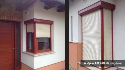 Aluredőny rusztikus stílusú lakóházon - homlokzat ötlet, rusztikus stílusban
