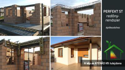 Redőnytokok az épülő lakóházon - homlokzat ötlet, modern stílusban