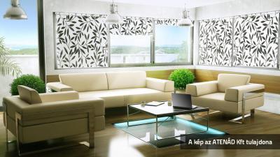 Roletta a nappaliban - nappali ötlet, modern stílusban