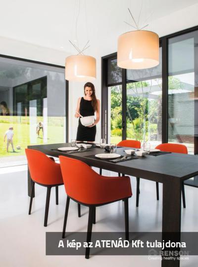 Fixscreen árnyékoló a teraszra nyíló ajtón - konyha / étkező ötlet, modern stílusban