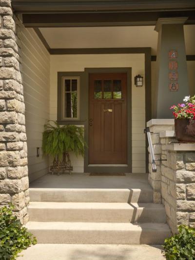 Lépcsős bejárat - bejárat ötlet, klasszikus stílusban