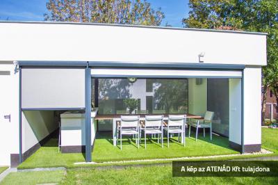 Terasz Fixscreen árnyékolóval - erkély / terasz ötlet, modern stílusban