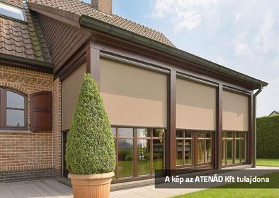 Osztott ablakok Fixscreen árnyékolóval - homlokzat ötlet, klasszikus stílusban