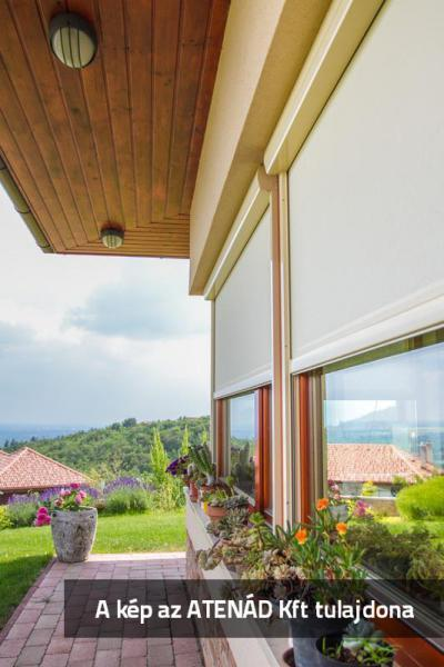 Fixscreen árnyékoló az ablakokon - homlokzat ötlet, modern stílusban