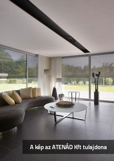 Fixscreen árnyékoló az ablakokon - nappali ötlet, modern stílusban