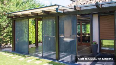 Pliszé szúnyogháló a teraszon - erkély / terasz ötlet, rusztikus stílusban